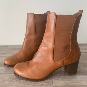 Cole Haan Leather Tan Heeled Boots Size 9